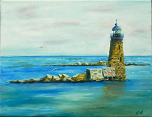 Whaleback Light - Maine