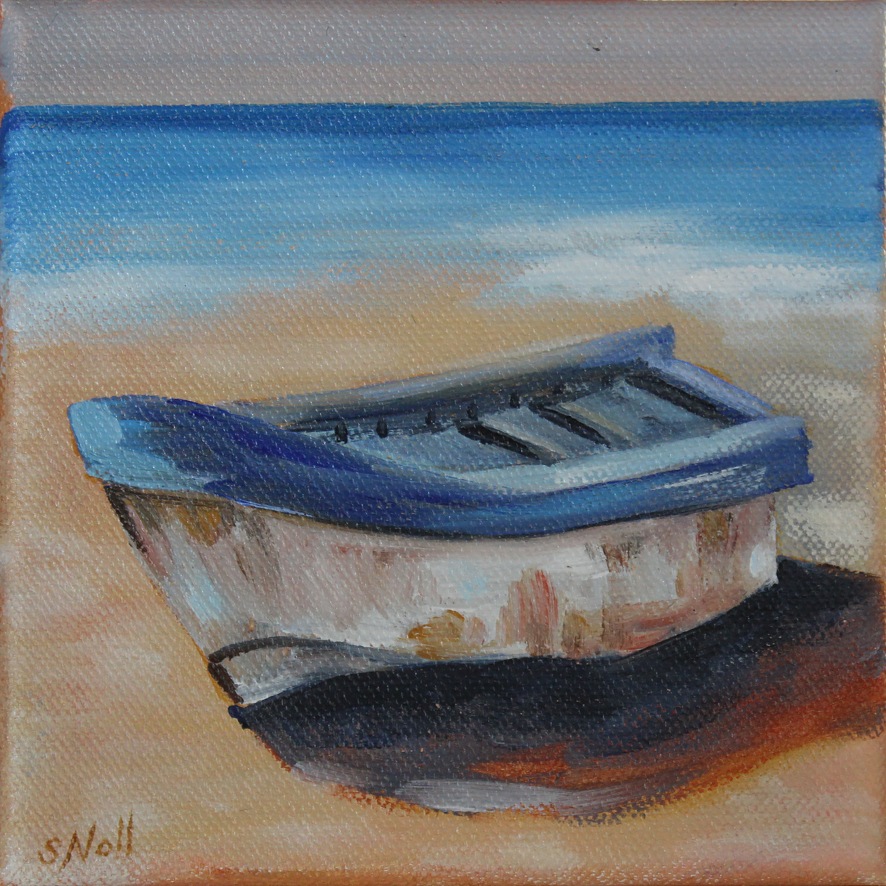 Row Boat on Shore