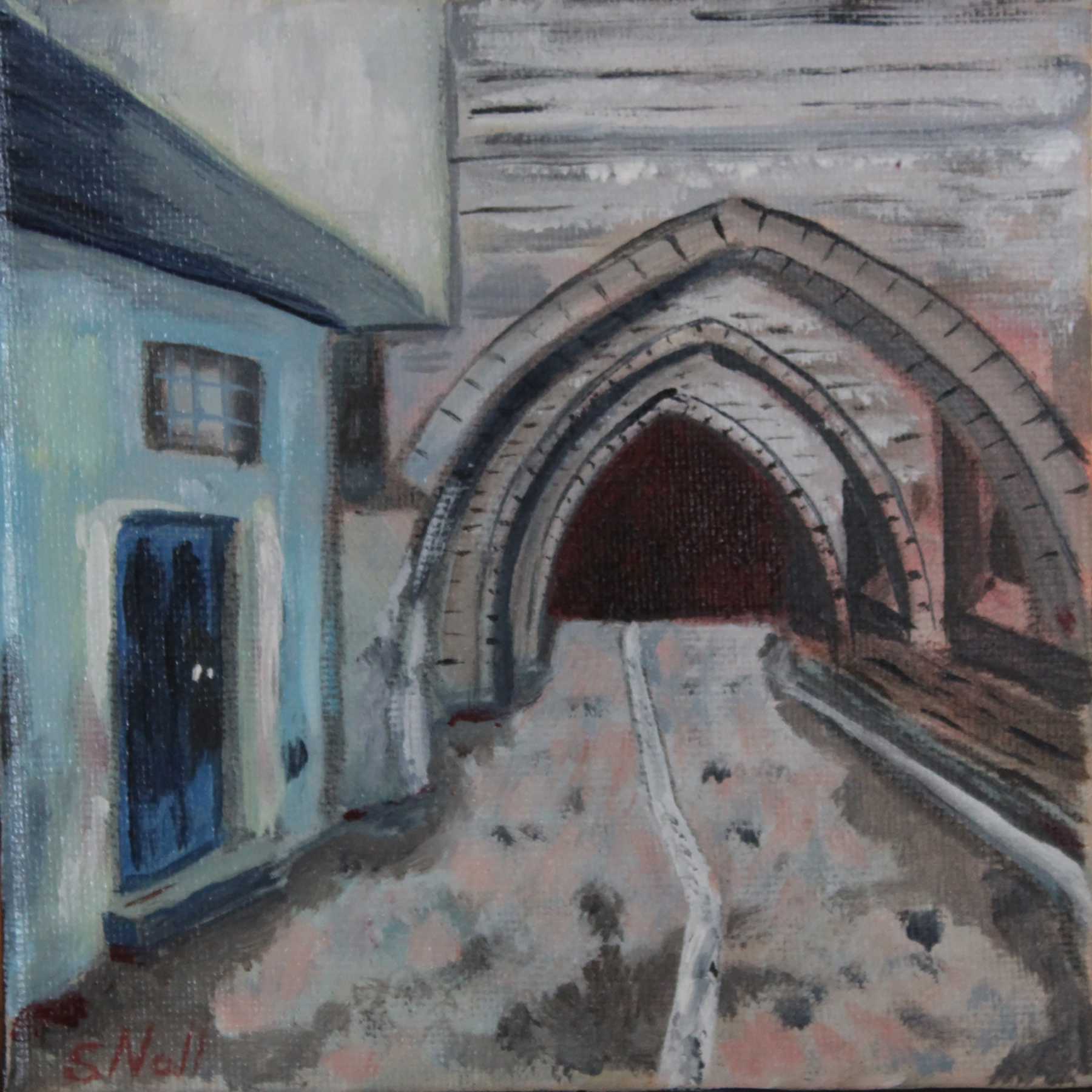 Street Scene with Tunnel